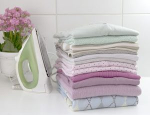 The wash and fold service is for customers who want to pick up their clean laundry washed and folded.